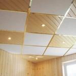 Клеевые потолки недороги и практичны