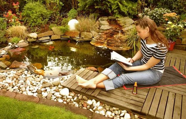 Водоем садовый своими руками 65